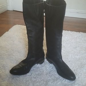 Sam Edelman Black Leather Riding Boots Sz 9.5